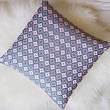 Úžitkový textil - Oma vankúš - ručne vyšívaný - 13470323_