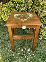 Nábytok - Drevený stolček - 13470627_