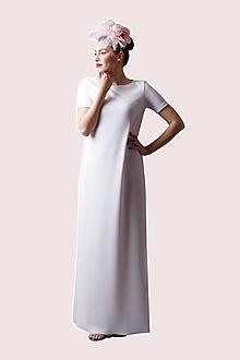 Šaty - Dlhé šaty biele voľné - 13473377_