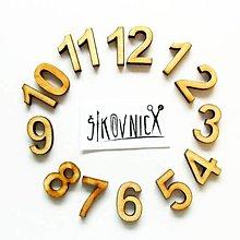 Polotovary - Drevené čísla na hodiny - 2 cm - 13472170_