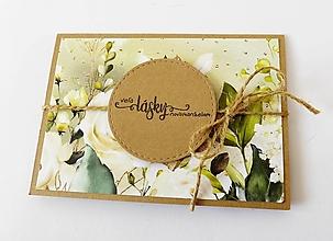 Papiernictvo - pohľadnica svadobná - 13471431_