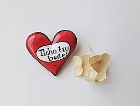 Odznaky/Brošne - Povedz to s láskou - brošňa. - 13471648_