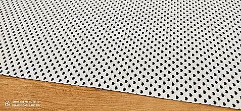 Textil - Bavlnená látka - Srdiečka čierne - cena za 10 centimetrov - 13473074_