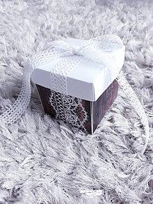 Krabičky - Vintige box na svadbu - 13473214_