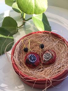 Náušnice - Divé maky červené (Visiace náušnice) - 13471577_
