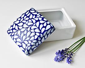 Nádoby - Porcelánová dóza Kobaltová originál - 13473533_