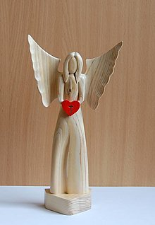 Dekorácie - Dekorácia z dreva - Boží anjel - 13473201_