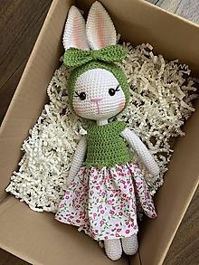 Hračky - zajačica Fifinka - v zelenom - 13473102_