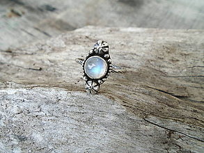 Prstene - Strieborny prsteň Ag925 Marabella -Mesačný kameň - 13471521_