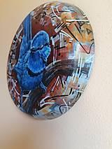 Obrazy - Maľba na železnom podklade - Chuchroš - 13472104_