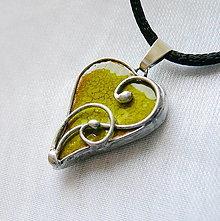 Náhrdelníky - Mini srdiečko z lásky - hráškové - 13473167_