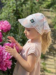 Detské čiapky - Letná šatka so šiltom jednorožec - 13472607_