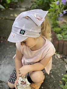 Detské čiapky - Letná šatka so šiltom čarovná rozprávka - 13472624_