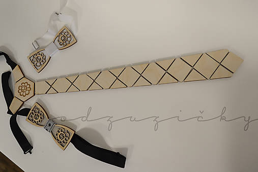 Drevená kravata folk od Aničky