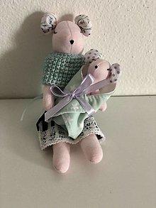 Hračky - Myška hryzka s bábatkom - 13472930_