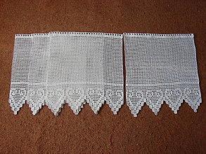 Úžitkový textil - háčkovaná vitrážková záclonka - 13474148_