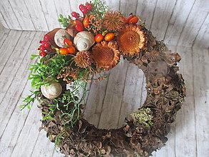 Dekorácie - Jesenný venček - 13475149_