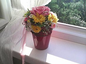 Dekorácie - Kvetinová dekorácia ...letné kvietky... - 13474001_