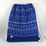 Batohy - Ľudový vak čičmany (Modrý) - 13474209_
