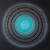 Obrazy - NEKONEČNÁ LÁSKA A ŠŤASTIE ♥ (smaragd-silver) 80 x 80 (100 x 100 cm) - 13475167_