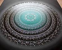 Obrazy - NEKONEČNÁ LÁSKA A ŠŤASTIE ♥ (smaragd-silver) 80 x 80 (100 x 100 cm) - 13475177_