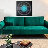 Obrazy - NEKONEČNÁ LÁSKA A ŠŤASTIE ♥ (smaragd-silver) 80 x 80 (100 x 100 cm) - 13475197_