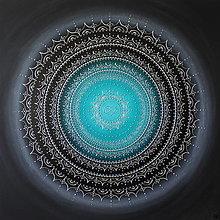 Obrazy - NEKONEČNÁ LÁSKA A ŠŤASTIE ♥ (smaragd-silver) 80 x 80 - 13475167_