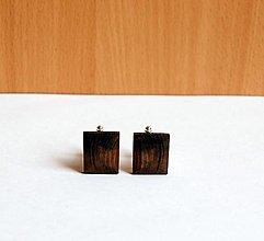 Šperky - Drevené manžetové gombíky - Orechové - 13474652_