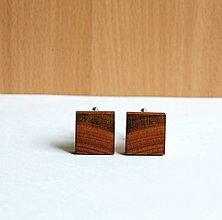 Šperky - Drevené manžetové gombíky - Hruškové - 13474741_