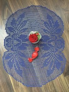 Úžitkový textil - háčkovaný obrus - Kvet - 13475250_