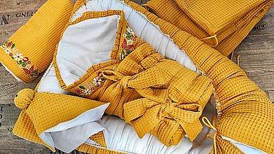 Textil - Set pre bábätko HORČICOVÁ - 13475403_
