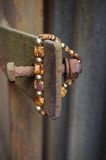 Náramky - Náramok hnedo - zlatý - 13475721_