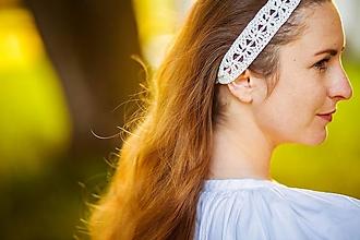 Ozdoby do vlasov - Ručne háčkované letné čelenky z ľanu - 13475066_