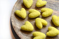 Drobnosti - Vlnené srdce #žlté- 3,5cm - 13475739_