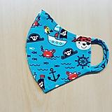Rúška - Jednovrstvové  rúško malý námorník - 13478730_