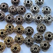 Korálky - Kov.rondelka 7x4mm-1ks - 13478109_