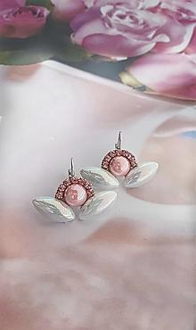 Náušnice - perleťová sviežosť - perleťové náušničky - 13478439_