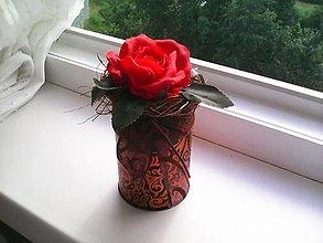 Dekorácie - Kvetinová krabička ... z lásky ... - 13476092_