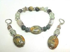 Sady šperkov - Súprava šperkov achát, opál, krištáľ - 13477853_