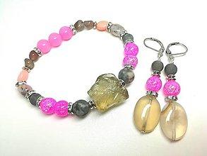 Sady šperkov - Súprava šperkov krištáľ, opál, jadeit - 13478049_