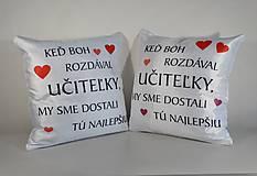 """Úžitkový textil - Saténový vankúš """"najlepšia učiteľka"""" - 13478743_"""