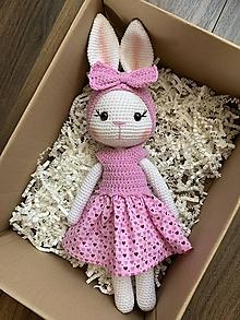 Hračky - zajačica Fifinka - v ružovom - 13477480_