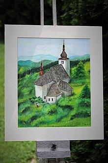 Obrazy - Kostol vo vetre - 13478307_