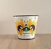 Nádoby - plechový kvetináč slnečnica - 13476589_