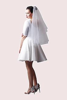 Šaty - Šaty biele s kruhovou sukňou - 13481545_