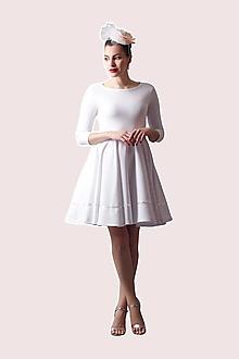 Šaty - Šaty biele so saténovou stuhou - 13481663_