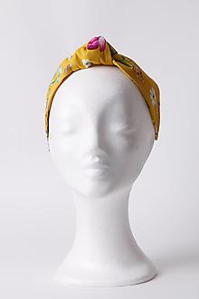 Ozdoby do vlasov - Čelenka žltá so vzorom - 13481688_