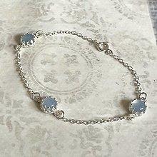 Náramky - Filigree Blue Chalcedony Silver Bracelet AG925 / Strieborný náramok modrý chalcedón - 13479571_