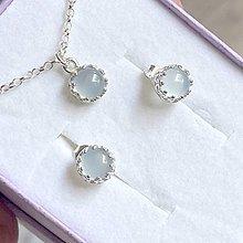 Sady šperkov - Blue Chalcedony Ag925 Set  / Set strieborných šperkov s chalcedonom modrým - 13479606_