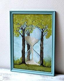Obrazy - Maľovaný obraz - Čas - 13481094_